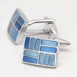Two Toned Blue Cufflinks