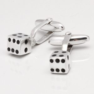 Sterling Silver Dice Cufflinks