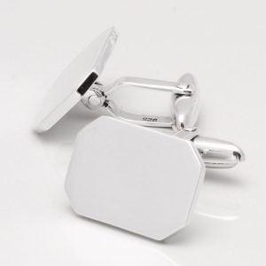 Sterling Silver Octagon Cufflinks