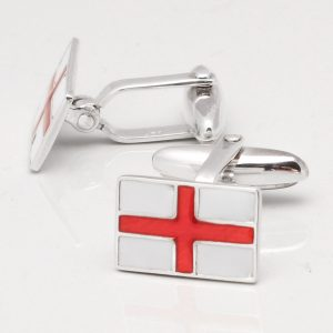 Sterling Silver St George's Cross Cufflinks