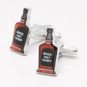 Whisky Bottle Cufflinks