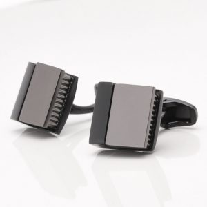 Black Gunmetal Wedge Cufflinks