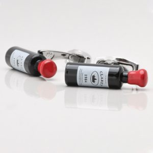 Red Wine Bottle Cufflinks