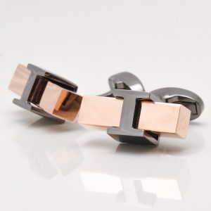 Rose Gold Block Cufflinks
