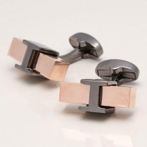 Rose Gold Block Cufflinks