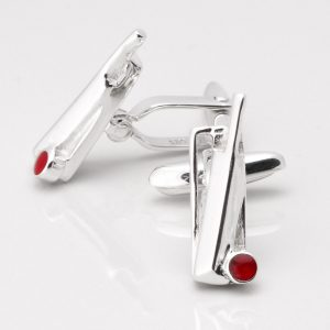 Sterling Silver Cricket Cufflinks