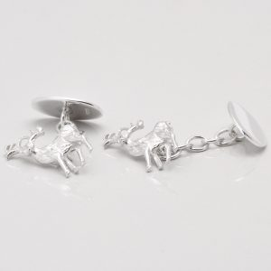 Sterling Silver Stag Cufflinks