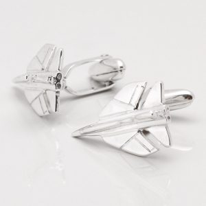 STERLING SILVER TORNADO FIGHTER JET CUFFLINKS