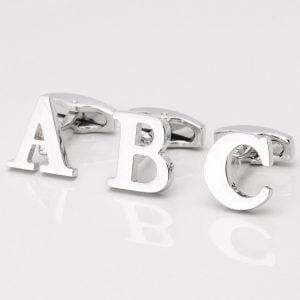 Silver Letter Cufflinks