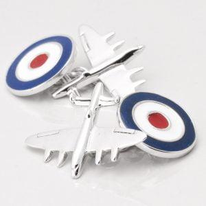 Sterling Silver RAF Bomber Plane Cufflinks
