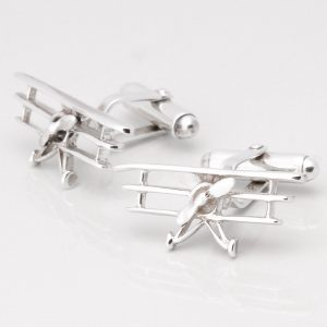 Sterling Silver Tri Plane Cufflinks