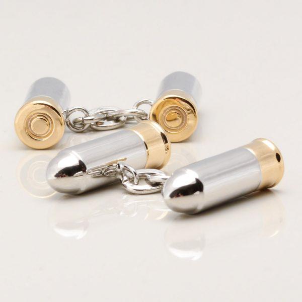 Double Bullet Chain Cufflinks