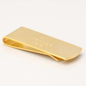 Gold Engraved Money Clip
