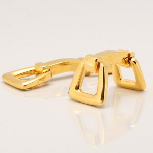 Gold Horse Stirrup Cufflinks