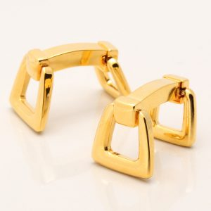 Gold Horse Stirrup Cufflinks