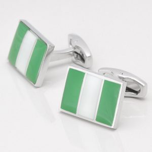 Nigerian Flag Cuffinks