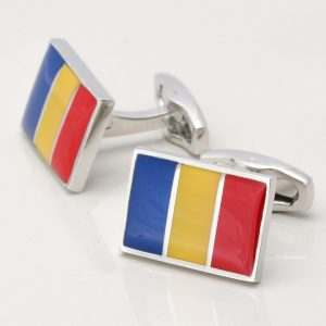 Romanian Flag Cufflinks