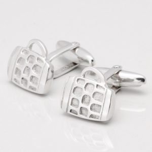 Sterling Silver Beer Tankard Cufflinks