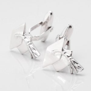 Sterling Silver Graduation Cufflinks