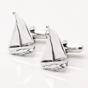 Sterling Silver Sailing Boat Cufflinks
