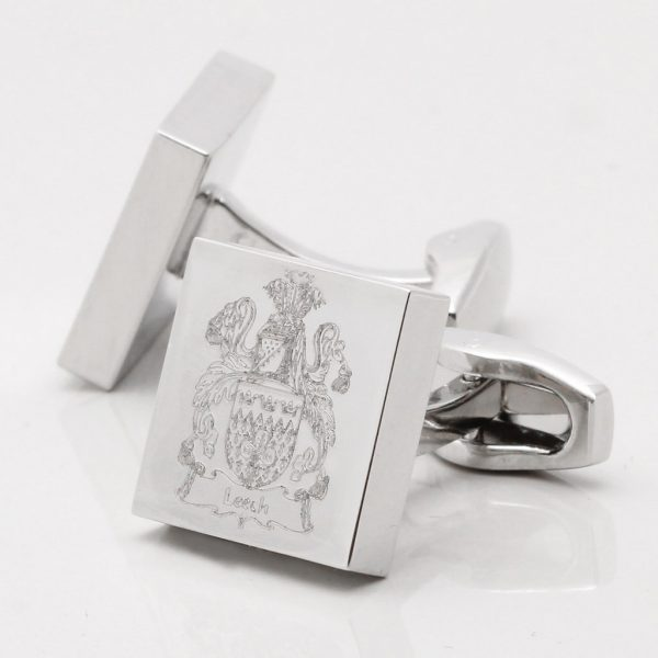 Engraved Family Crest Cufflinks