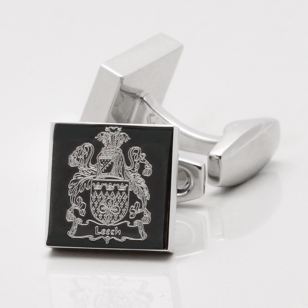 Engraved Family Crest Cufflinks Gallery