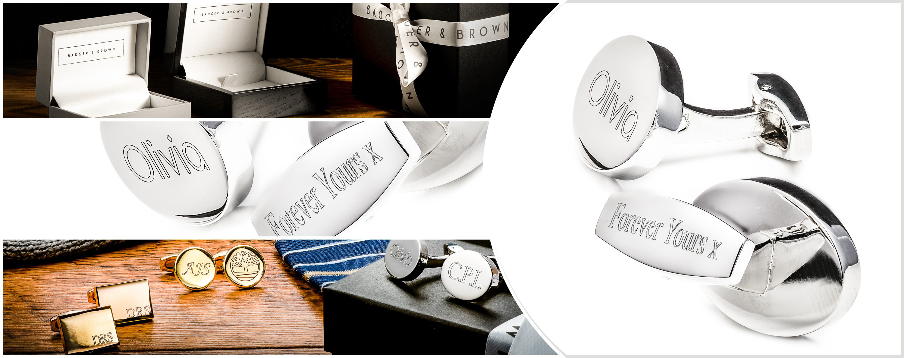 Engraved Cufflinks Banner