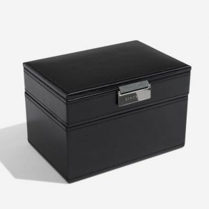 Black Cufflink & Watch Box