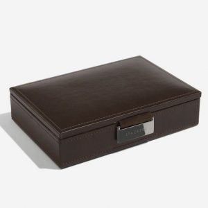 Chocolate Brown Cufflink Box