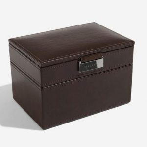 Chocolate Brown Watch & Cufflink Box