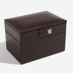 Chocolate Brown Watch & Cufflink Box