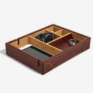 Heritage Chestnut Brown Valet Tray