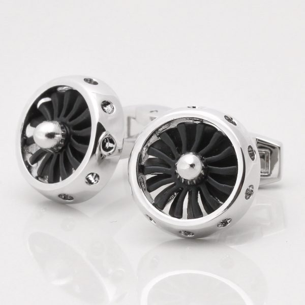 Jet Engine Cufflinks