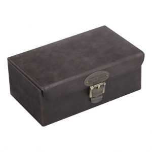 Khaki Watch & Cufflink Box
