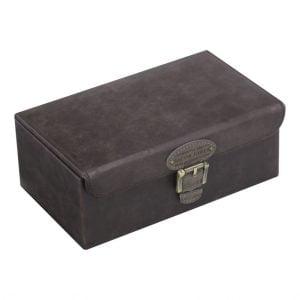 Khaki Watch & Cufflink Box