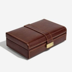 Luxury Brown Cufflink Box