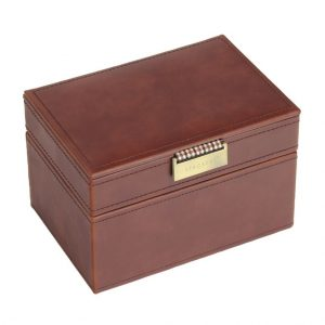 Tan Watch & Cufflink Box