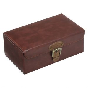 Tan Watch & Cufflink Box
