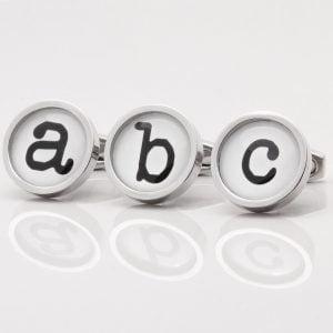 Typewriter Font Letter Cufflinks