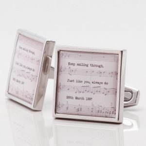 Personalised Music Sheet Cufflinks