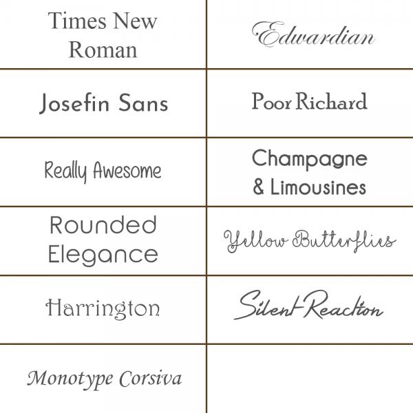 Engraving-Fonts