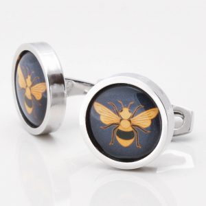Navy & Bee Cufflinks