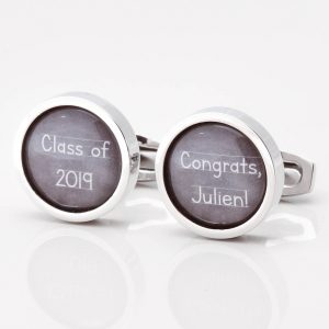 Personalised Chalkboard Graduation Cufflinks