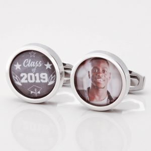 Personalised Chalkboard & Photo Graduation Cufflinks