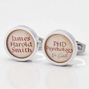 Personalised Parchment Graduation Cufflinks