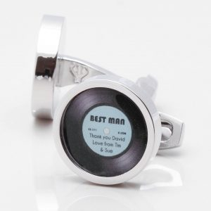Personalised Record Cufflinks