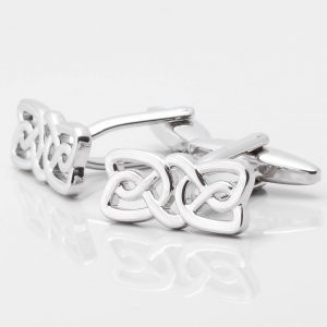 Rectangular Celtic Knot Cufflinks