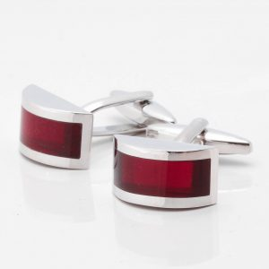 Wine Coloured Glass Effect Cufflinks
