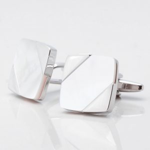 Diagonal Mother of Pearl Square Cufflinks
