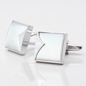 Mother of Pearl Fish Tail Patterned Cufflinks